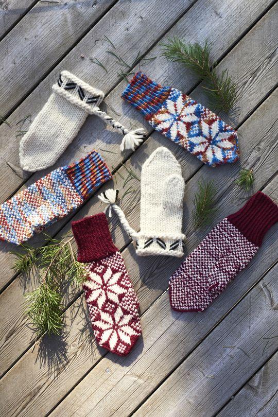 Novita's traditional Nordic knits, Mittens made with Novita 7 Brothers yarn. #novitaknits #knitting #knits https://www.novitaknits.com/en