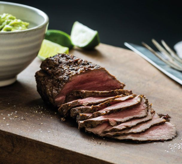 Barbecued Beef with Avocado Cream