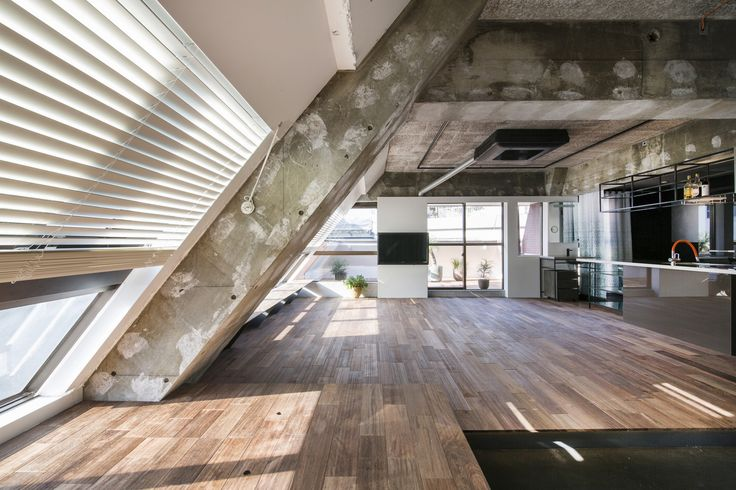 "Tokyo Loft - G Architects - Small Apartment - Living Area - Humble Homes/></p><p>To introduce light into the space they installed windows along the sloping walls of the roof. The windows provide unobstructed views over the city. From the architects: ""Since this apartment is to be used for accommodation purposes, we took the unique character of the apartment and added a hotel-like atmosphere."" From the look of it, it's a very functional hotel.</p><p><img src="