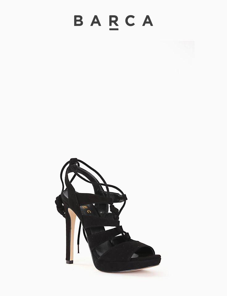 #Sandalo #tacco 110 e plateaux 2 cm, fondo gomma e soletto in vera pelle, tomaia in morbido camoscio, laccetto da annodare in #camoscio.  COMPOSIZIONE FONDO GOMMA, SOLETTO VERA PELLE  COLORE #NERO  MATERIALE #CAMOSCIO  #shoes #fashionblogger #fashion #heels #tacchi #scarpe #sandali #springsummer