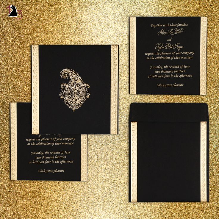 matter for wedding invitation in gujarati%0A Beautiful Black Color Paisley Design Wedding Invitation Made from Luxurious  Matt Paper   Customize it