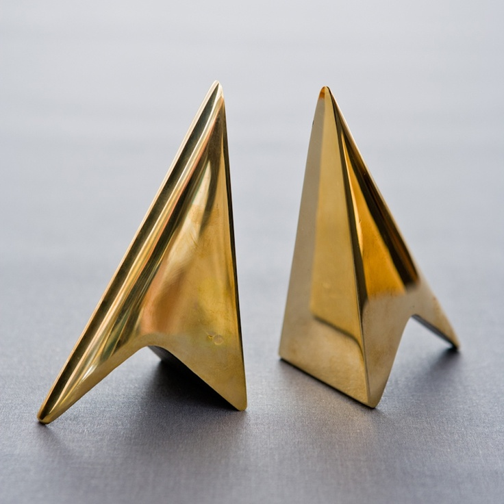 Bookends by Austrian metal smith Carl Auböck.