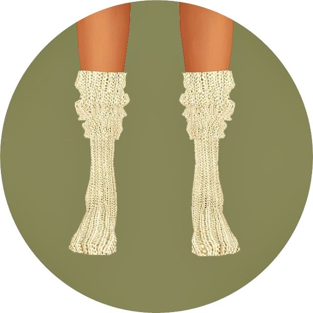 Knit loose socks_ knit rouge socks _ women socks - SIMS4 marigold