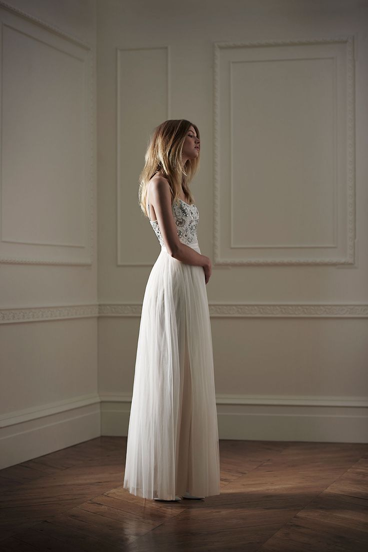Rose maxi wedding dress, Needle & Thread #wedding #dress #affordable