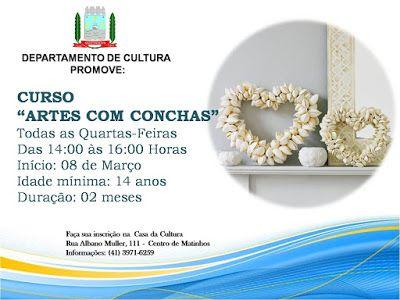 """Curso """"Arte com Conchas"""". Cultura de Matinhos"""