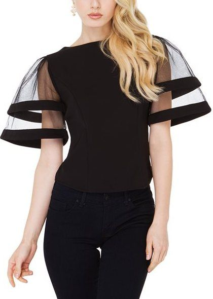 Gracia Mesh Me Sleeve Top