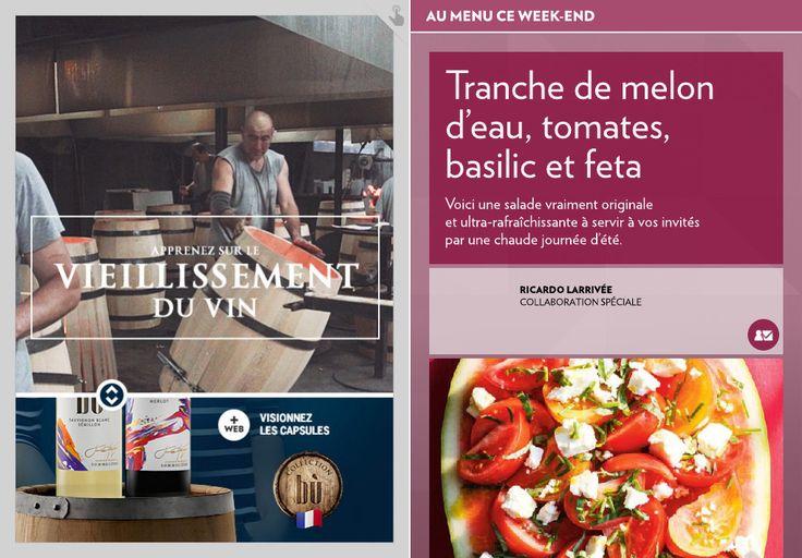 Tranche de melon d'eau, tomates, basilic et feta - La Presse+