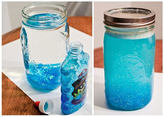 Quick and easy DIY calming jar for toddlers