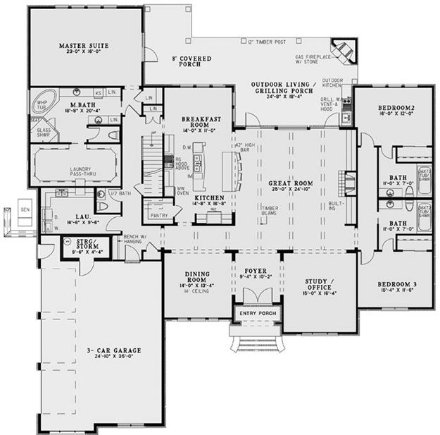 Awesome Floor Plan With HUGE Master Walk In Closet And Laundry Pass Through    Also Open Kitchen/great Room Concept. Add One More Bedroom On Main Floor  And A ...