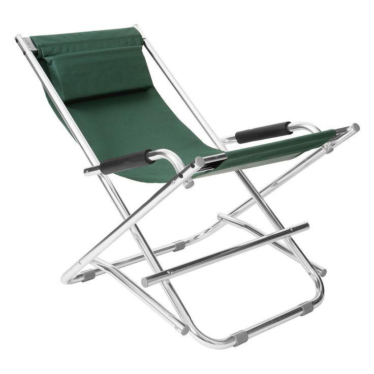 Folding Garden Chair, Aluminium Frame, 100% Polyester W/Polyurethane Covering