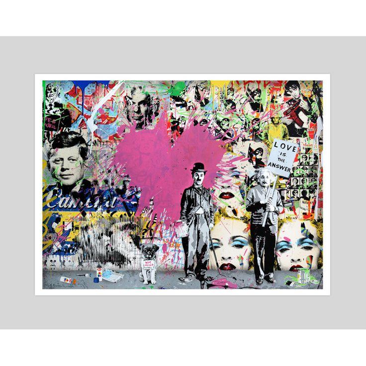 Love Is The Answer by Mr Brainwash Art Print | hardtofind.