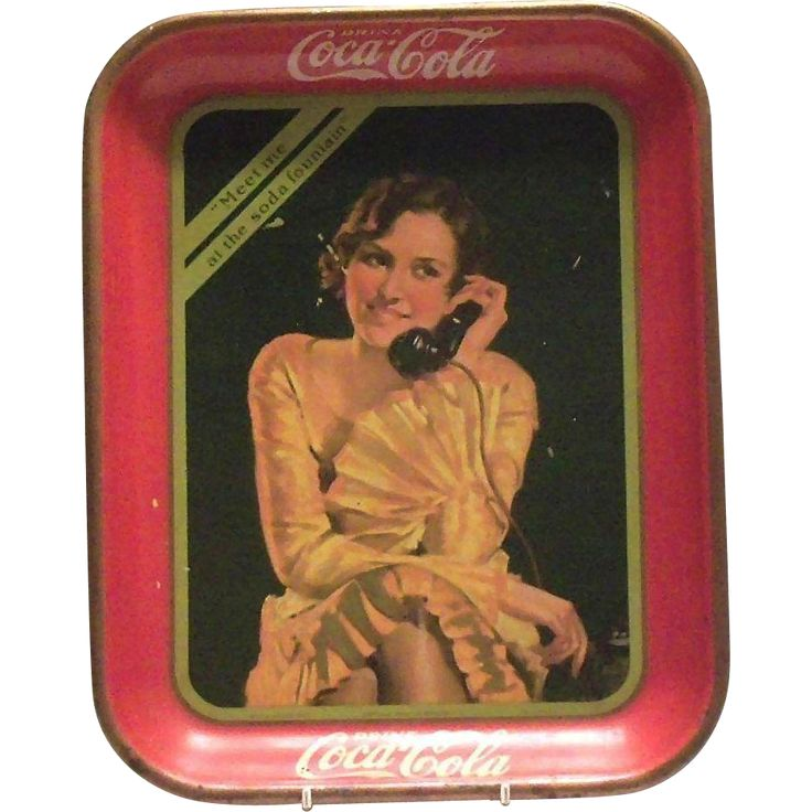 Coca Cola 1930 'Meet Me At The Soda Fountain' Metal Serving Tray