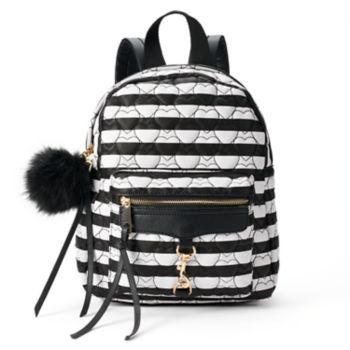 Yoki Heart Quilted Striped Backpack