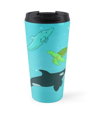 Sea Animals by thekohakudragon Travel Mug