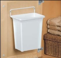 knape u0026 vogt white plastic door mounted trash can for under the sink storage find this pin and more on indoor compost bins