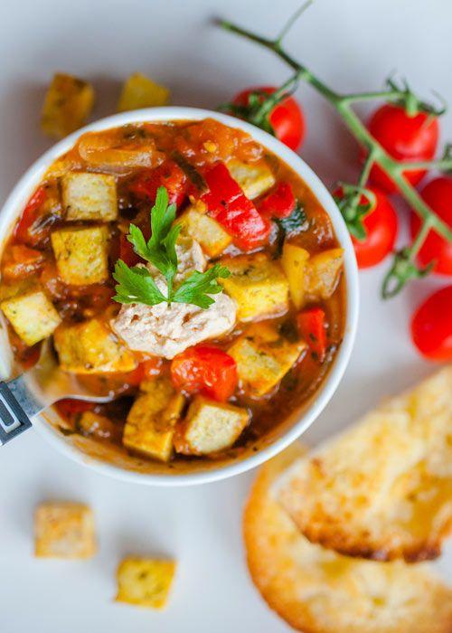 Leczo wegetariańskie z tofu  - etap 1