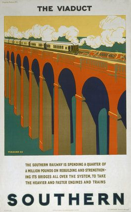 'The Viaduct', SR poster, 1925. by Kerr, T D at Science and Society Picture Library