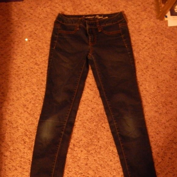 American eagle stretch jeggings They are slightly worn and very comfortable. American Eagle Outfitters Pants Leggings