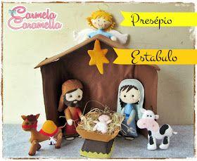 Carmela Caramella : Curso Presépio - Aula 5 - moldes