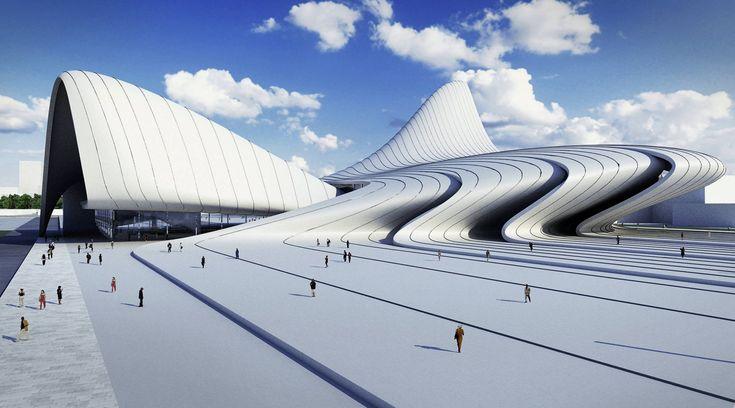 Zaha Hadid - Heydar Aliyev Cultural Center in Baku, Azerbaijan