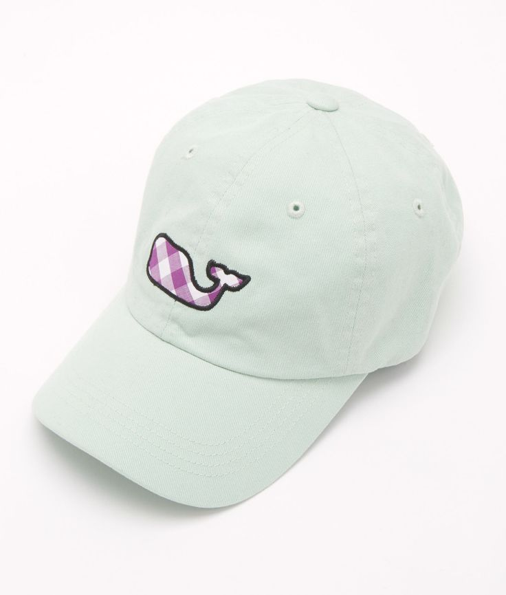 Shop Gingham Whale Applique Baseball Hat at vineyard vines coupon on my email