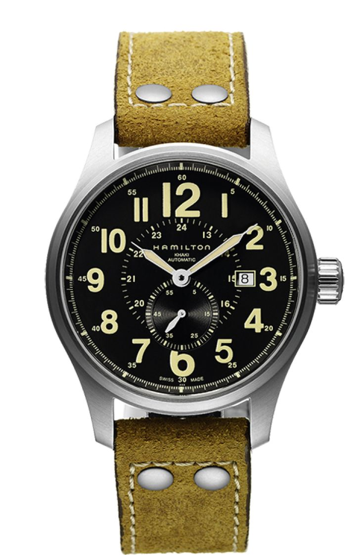 Military Style Watches... Simple, clean functional, military grade watches can look elegant dressed up or worn casual with a nylon or rubber strap. Another military watch I like. I like that it's black titanium. Can be used in a military style watch story. Officer Auto