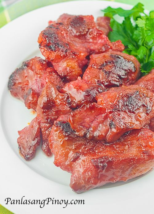 Pork Tocino or simply tocino is a cured meat product native to the Philippines. It is usually made out of pork and is similar to ham and bacon although beef and chicken can sometimes be used as alternatives.