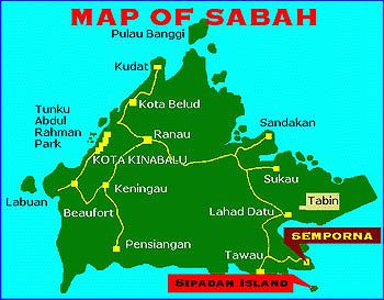 Location Map Of Seafest Hotel Semporna