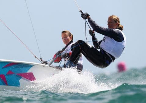Hannah Mills and Saskia Clarke Silver medal sailing