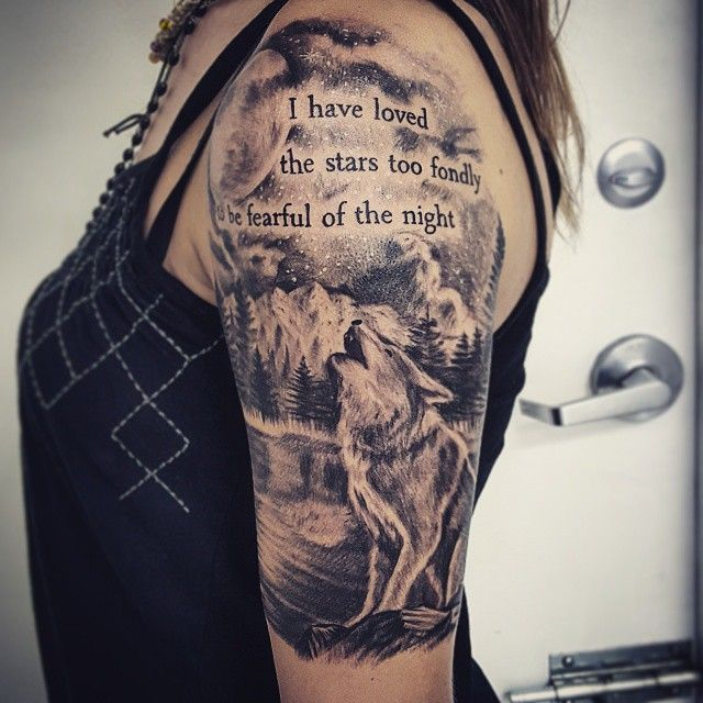 Had a lot of fun working on this Galileo quote/quarter sleeve. Thanks, @moonstarsnmars! #wolf ...
