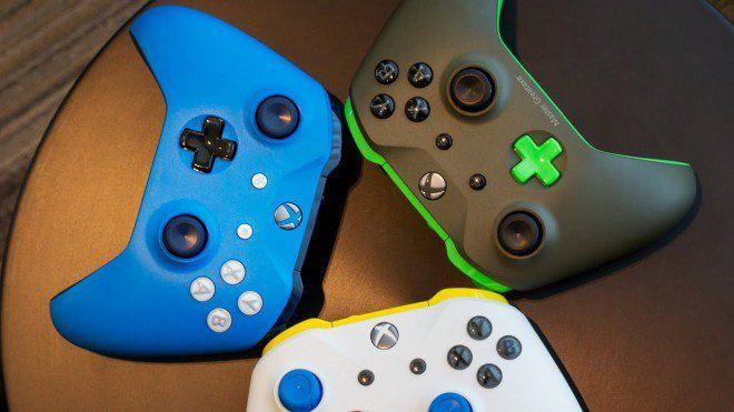 """I gamepad custom di Xbox Design Lab sbarcano in Europa. E torna quello di XB1 https://www.sapereweb.it/i-gamepad-custom-di-xbox-design-lab-sbarcano-in-europa-e-torna-quello-di-xb1/        La star della conferenza E3 2017 di Microsoft è stata la nuova Xbox One X (la comprerete?), insieme alla sua line-up di giochi, ma ci sono stati altri annunci """"minori"""". Non parliamo dell'ampliamento del programma di retrocompatibilità dei giochi, ma dello sbarco in..."""