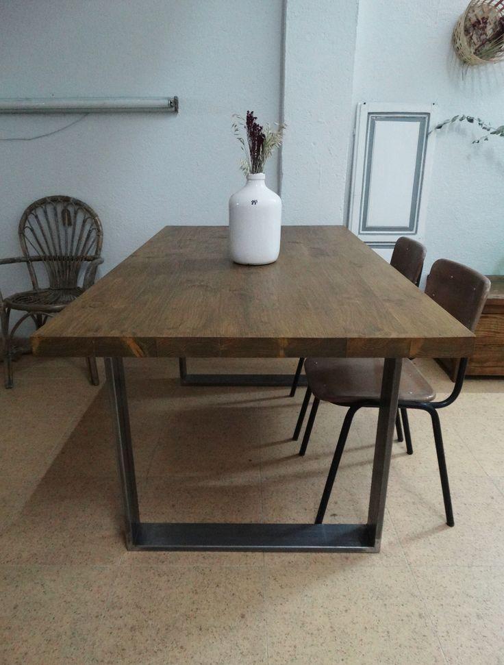 Mesa de comedor industrial mesa de comedor hecha con - Patas conicas para mesas ...