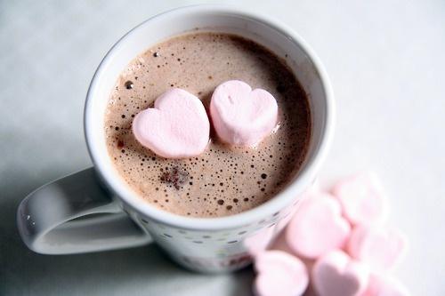 Melting marshmallow hearts
