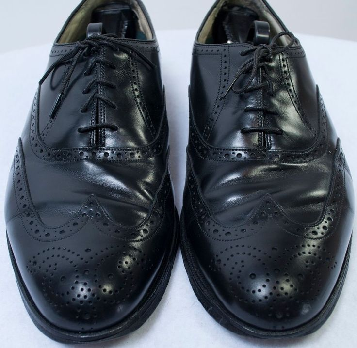 Luxury Florsheim Imperial Comfortech Oxford Wing Tip Leather Shoes Vtg Mens 10 D #Florsheim #WingTip
