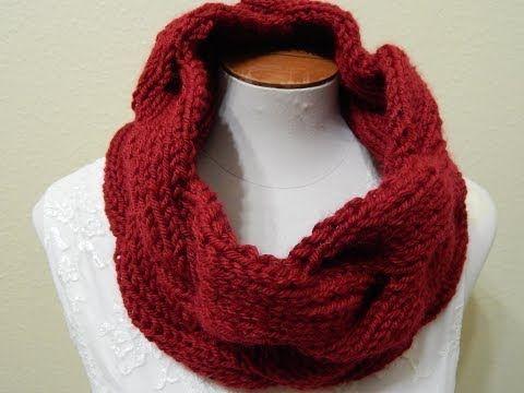 Bufanda Infinita en relieve / Infinity scarf in reliel ! (English Subtitels) - YouTube