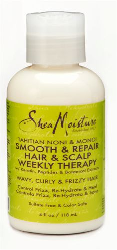 Tahitian Noni Monoi Smooth Repair Hair Scalp Weekly Therapy is an intensive weekly treatment with natural and certified organic ingredients for wavy, curly and frizzy hair. Delivers smoother, straighter hair, while nourishing and protecting hair and scalp and protecting against the damaging effects of heat styling. Hair will look thicker and fuller over time.