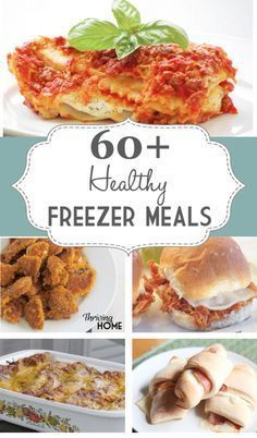 60+ tried and true healthy freezer meals. Plus loads of information on freezer cooking.