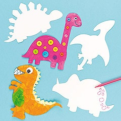 Bring dinosaurs back to life with these card blanks! Decorate with our acrylic paint or fibre pens then add wiggle-eyes.
