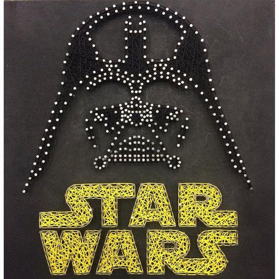 Star Wars Darth Vader String Art от JBstringart на Etsy