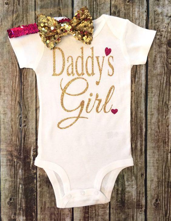 Daddy's Girl Baby Girl Onesie - BellaPiccoli