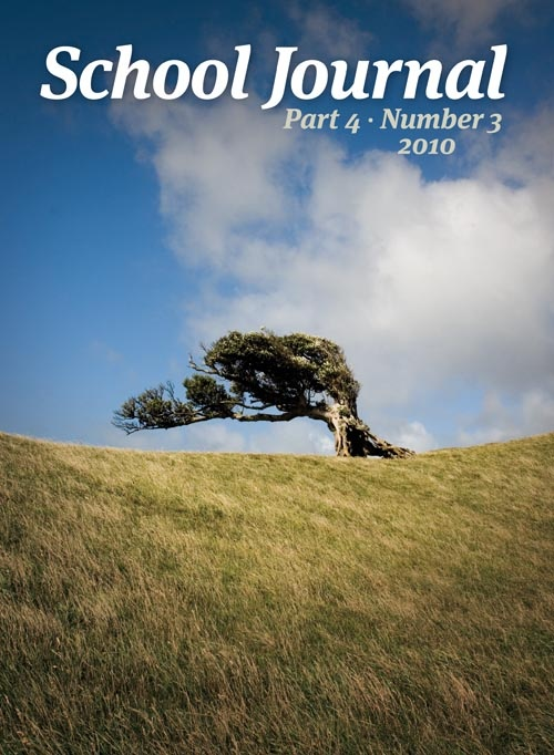 School Journal cover, Part 4, Number 3, 2010. (The journal cover photo of the Chatham Islands landscape).