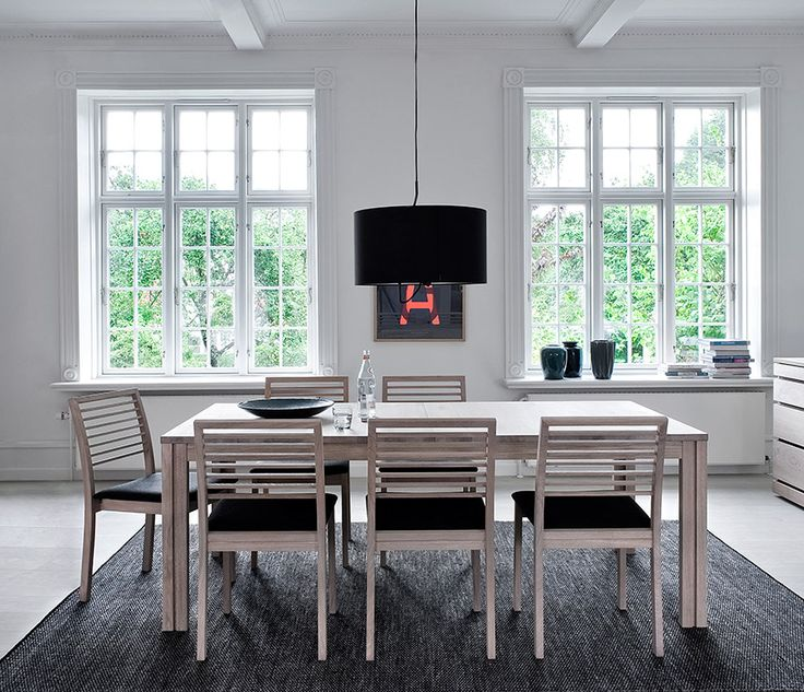 Remarkable Scandinavian Furniture Ideas: Awesome Contemporary Dining Room  Interior With Scandinavian Furniture Made From Wooden Material And.