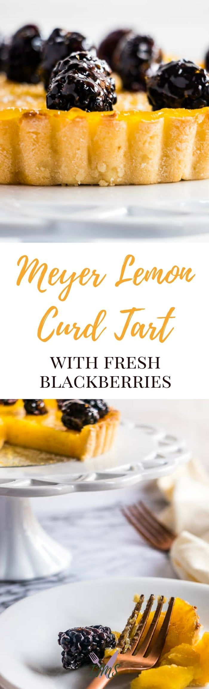The flavors of Meyer lemon and blackberry come together in this refreshing Meyer Lemon Curd Tart with Fresh Blackberries. Perfect as a dessert in late winter or early spring! via @ijustmakesandwi