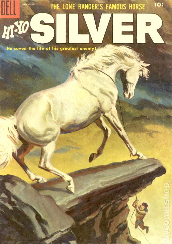 Lone Ranger's Famous Horse Hi-Yo Silver #15 - Josh wants to incorporate comic book covers, so I found some that wouldn't look crazy