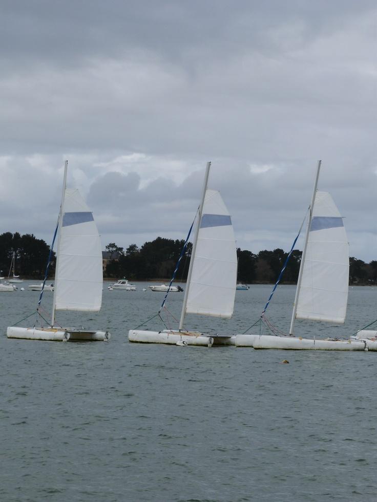 Bateaux à voile...  La Bretagne, Voyage en Finistère sud...  Pinte ...