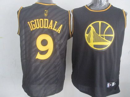 golden state warriors 9 andre iguodala revolution 30 swingman 2014 black with gold jersey