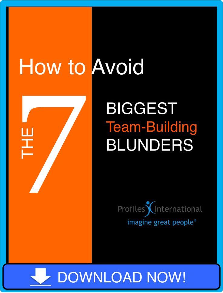 team building blunders