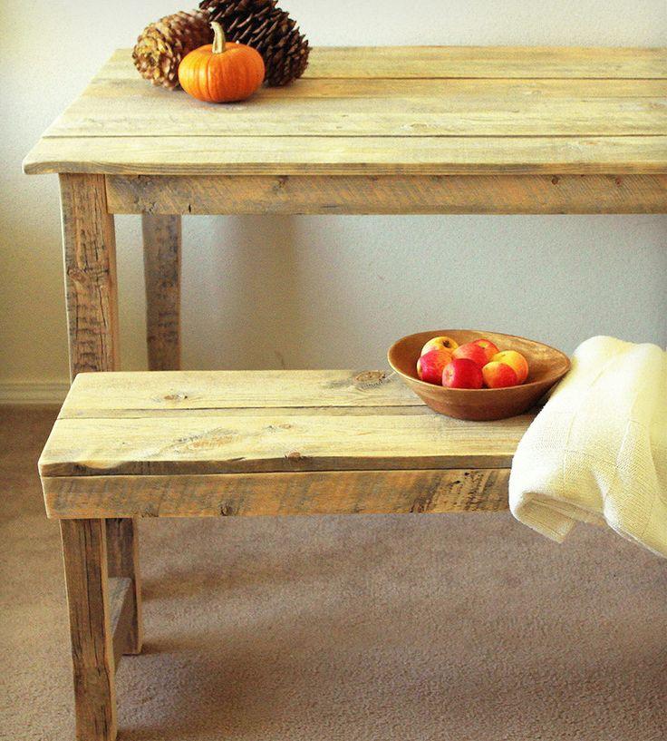 Farmhouse Kitchen Table & Bench   Home Furniture   J W Atlas Wood Company   Scoutmob Shoppe   Product Detail