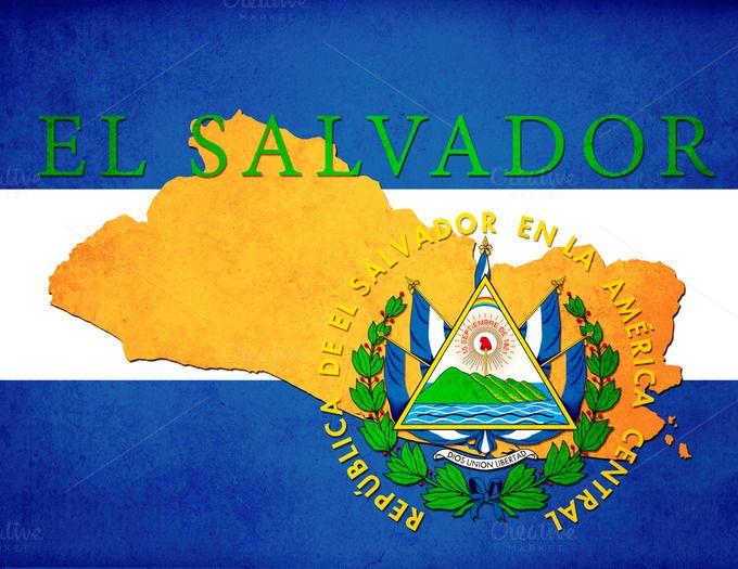Best El Salvador Flag Project Images On Pinterest El Salvador - Map of el salvador