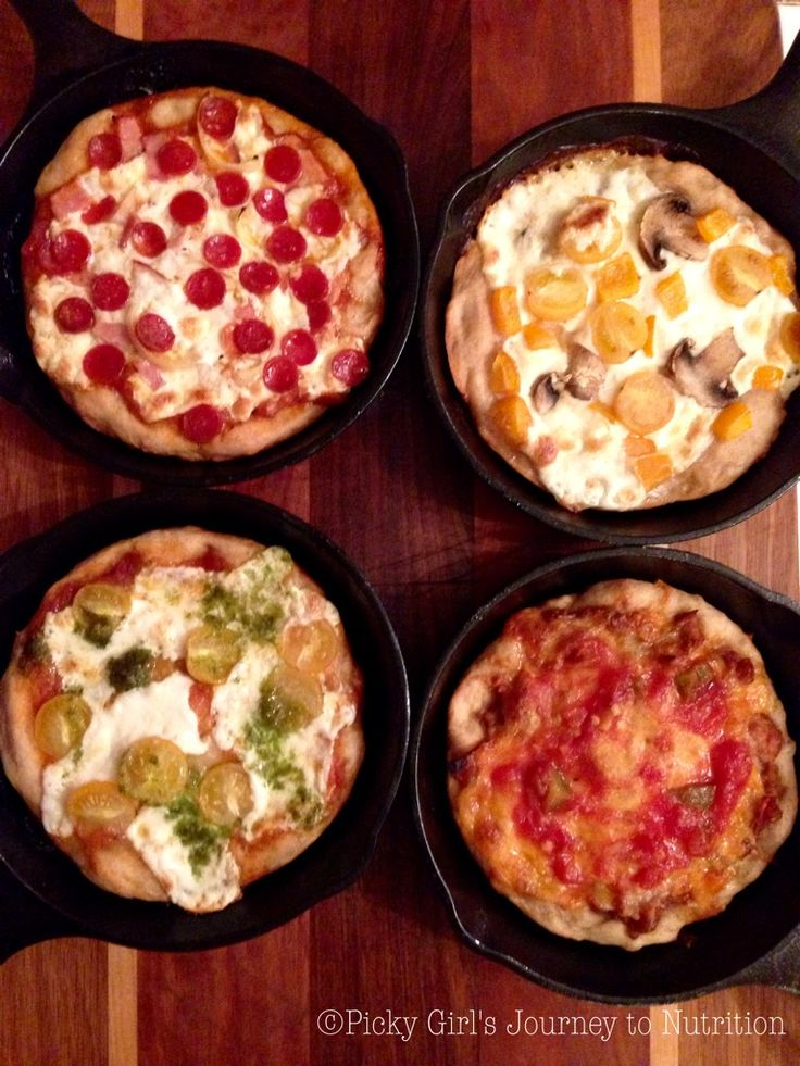 """Hello all!! Last weekend I finally got to go home for a quick visit and what better way to celebrate than with """"Mini Cast Iron Frying Pan Pizzas"""" (wow that's a mouthfull!) They are the cutest littl..."""